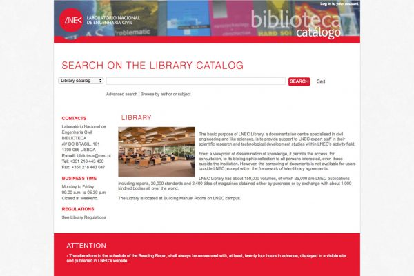 073 - BIBLIOTECA catalog - http___biblioteca.lnec.pt_