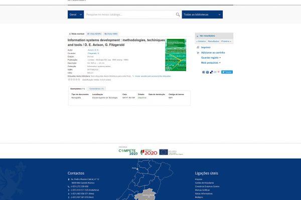 Bibliotecas Instituto Politécnico de Castelo Branco catálogo › Detalhes para Information systems development