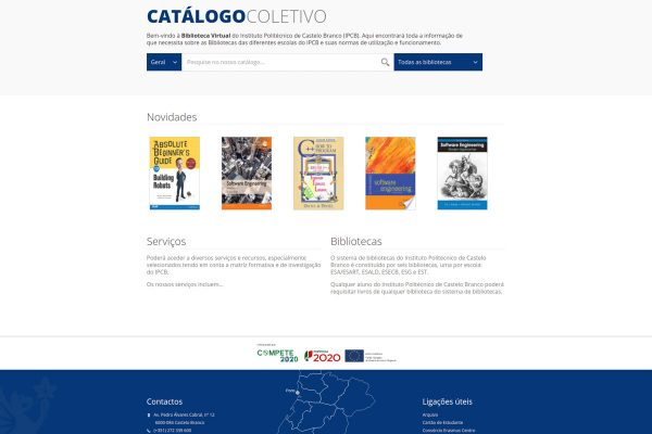 Bibliotecas Instituto Politécnico de Castelo Branco catálogo